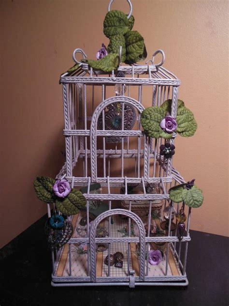 miniature bird cage whimsical fairy house  fairyhouseflair  fairy garden pinterest