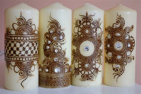henna design candles candles with henna design makedes com
