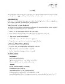 job description resume sample cashier job description resume sample