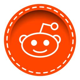 reddit color reddit icon stitched social media iconset uiconstock