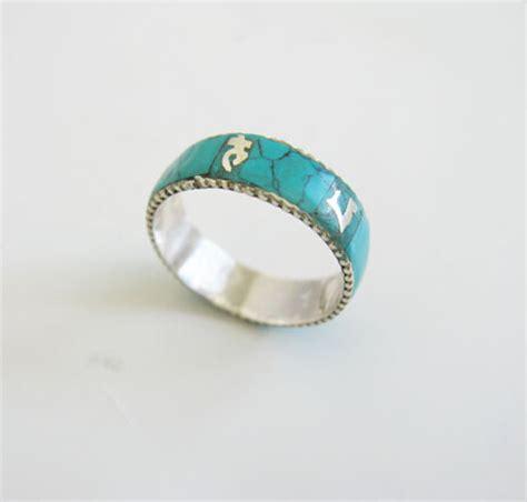 Handmade Turquoise Rings - nepalese 925 silver handmade turquoise ring wishbop