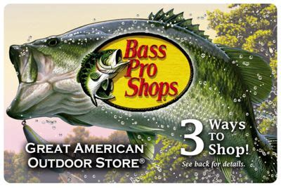 Bass Pro Shops Gift Card - traditional gift card bass pro shops