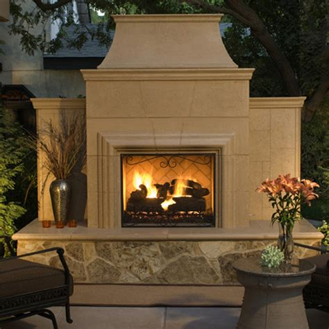 Grand cordova outdoor gas fireplace american fyre designs
