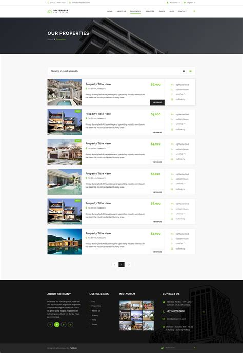 themeforest listing statepress real estate psd template by psdboss themeforest