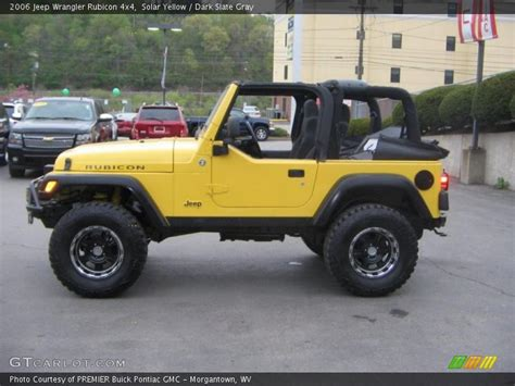 jeep rubicon yellow 2006 jeep wrangler rubicon 4x4 in solar yellow photo no