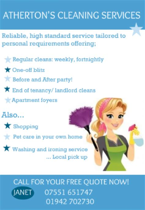 atherton s cleaning services domestic services wigan