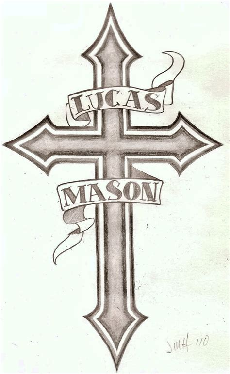 tattoo cross and names name cross tattoo 2 by wetcanvas on deviantart