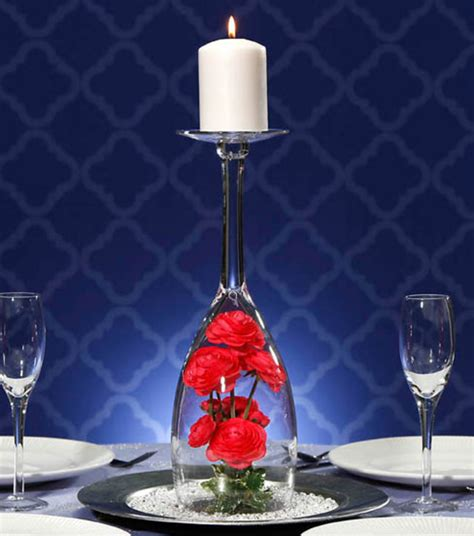 large chagne glass centerpiece inspiration joann jo ann