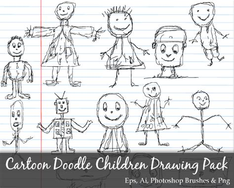 draw doodle photoshop scribble series doodle children drawing vector