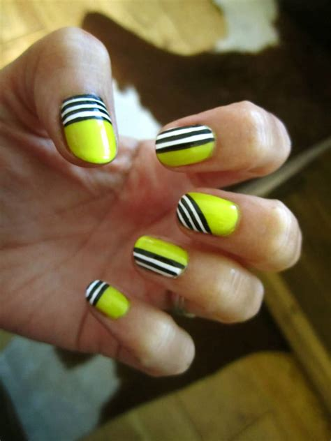neon pattern nails 70 trendy neon yellow nail art design ideas
