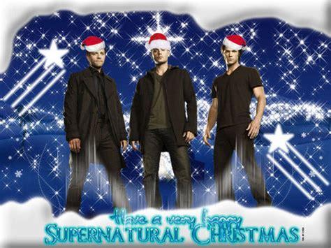 supernatural images supernatural christmas hd wallpaper  background