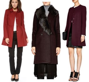 wine colored coat runway inspired how to wear wine colors this fall and winter