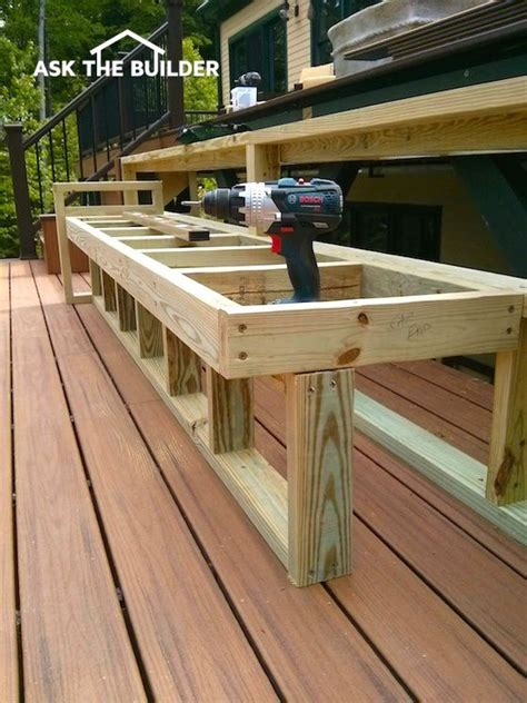 image result  comfortable seating deck bench plans