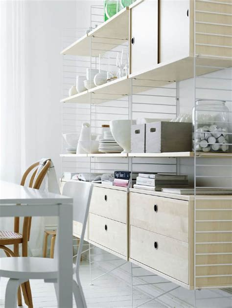 string shelving light weight yet stable shelving systems by string furniture