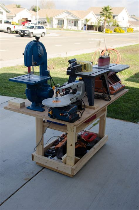 power tool bench mobile power tool station by fridgecritter lumberjocks