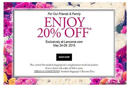 lancome coupons online