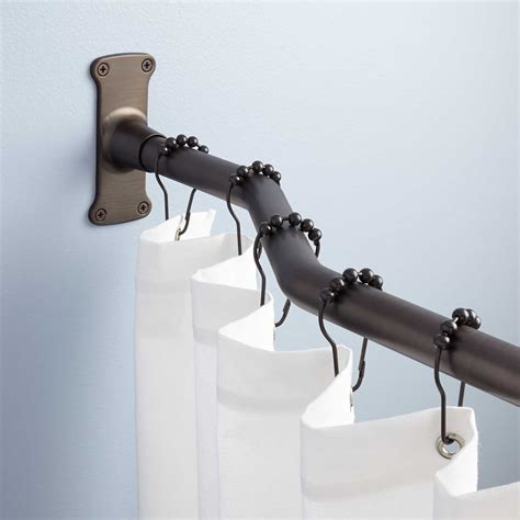 bathroom rods offset solid brass shower curtain rod shower curtain