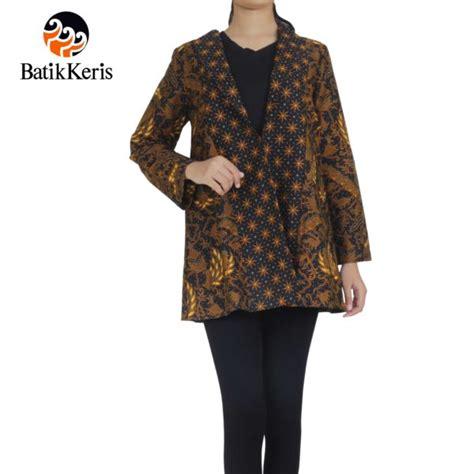 Kemeja Panjang Lengan Panjang Dress Krah outer batik lengan panjang krah setali motif cipto condro