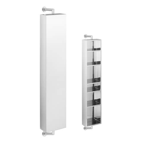bathroom storage mirrored cabinet rotating mirrored wall cabinet dwell