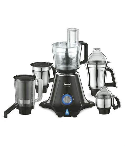 Preethi Zodiac MG 218 750 Watt Mixer Grinder (Black/Light