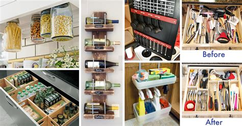 diy kitchen ideas 45 small kitchen organization and diy storage ideas