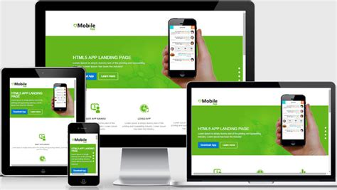 html5 application template mobile app landing page html5 template