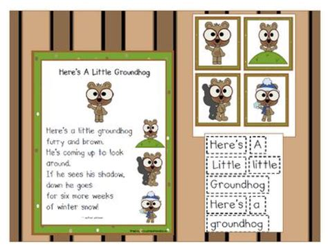 groundhog day nancy printable groundhog day poem from can do kinders