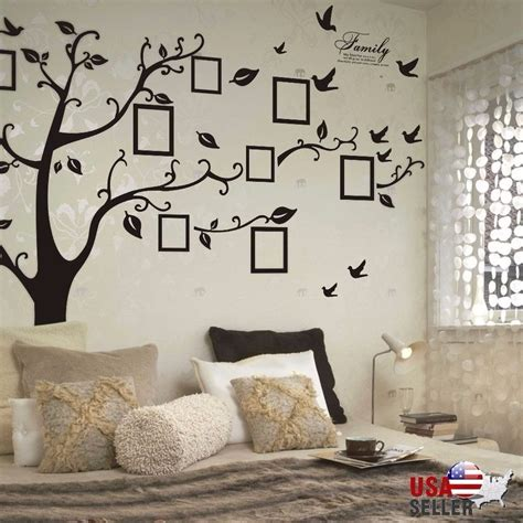 wall vinyl family tree wall decal sticker large vinyl photo picture
