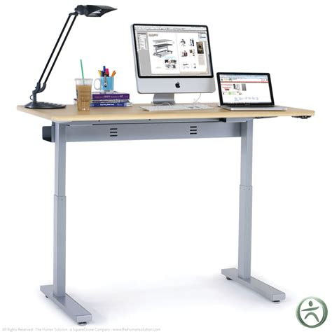 elevate adjusta 48 electric sit stand desk anthro sit stand desk standing desk guide measurements