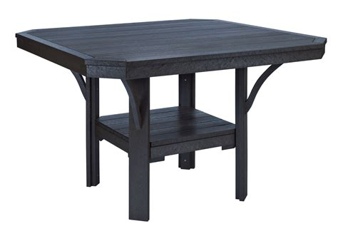 Black Square Dining Table St Tropez Black 45 Quot Square Dining Table From Cr Plastic T35 14 Coleman Furniture