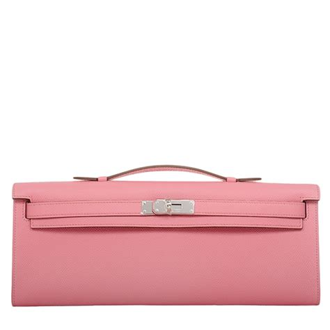 Complimentary Color To Pink by Hermes Kelly Cut Epsom Bag In Rose Confetti With Palladium