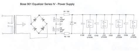 Bose 901 Equalizer Iv Schematic Detail Power Supply Bose