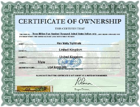 certification letter of ownership scamorama