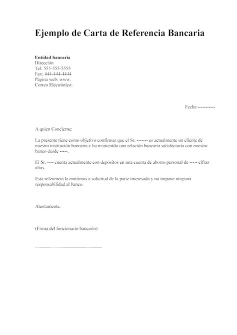 carta de referencia laboral para banco modelos de cartas de referencia una espa 241 ola en panama