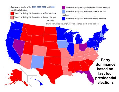 us political map states political dominance and voter id requirements