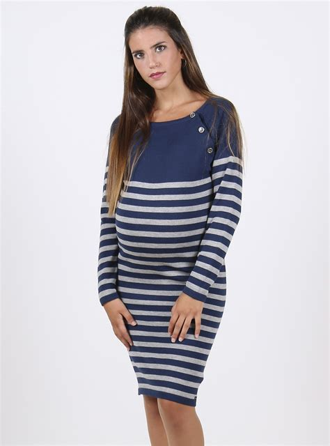 Striped Maternity striped maternity and nursing jumper dress lulibelle