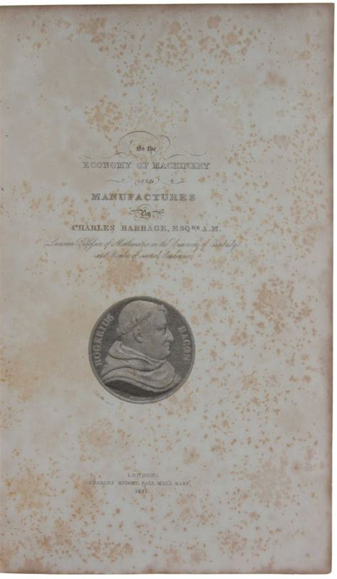 on the economy of machinery and manufactures classic reprint books on the economy of machinery and manufacturers charles