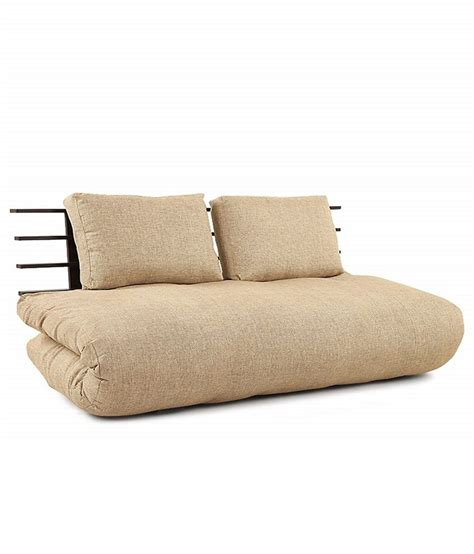 single futon base single futon base with jute coloured mattress buy online