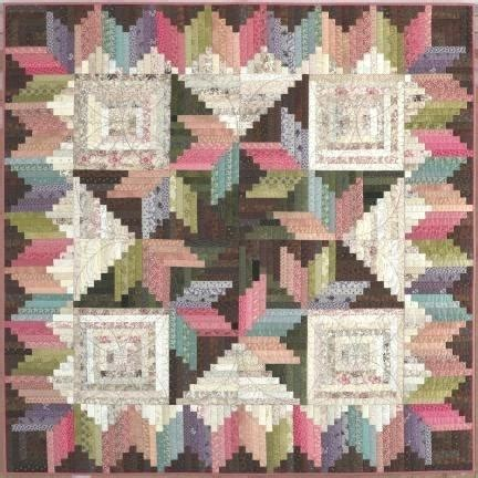 Log Cabin Patchwork History - scrappy log cabin quilt images log cabin quilts new york