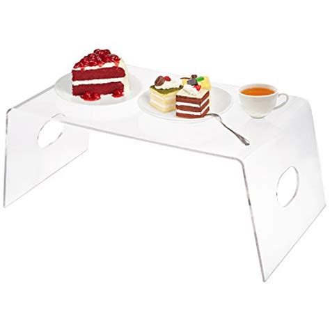 acrylic bed tray multipurpose clear acrylic breakfast in bed serving tray