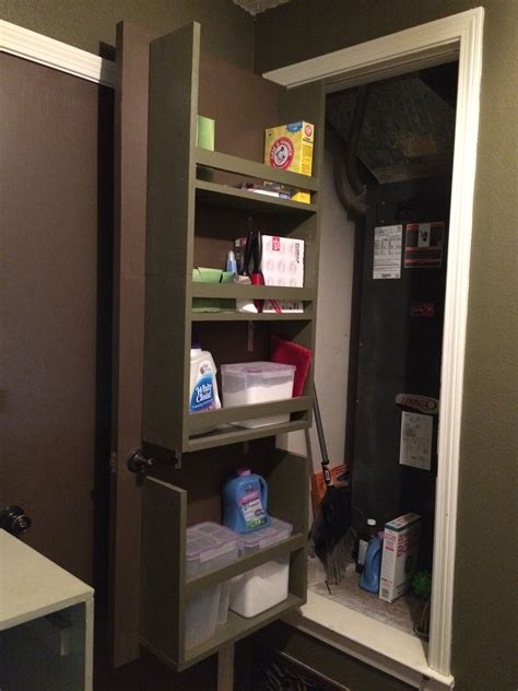 Back Of Door Shelving by Remodelaholic Build An Organized Back Of Door Shelf