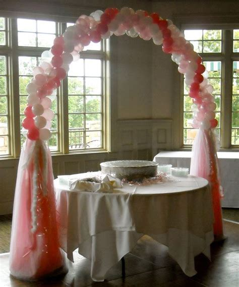 Birthday Decor pretty in Pink cake table arch   Party