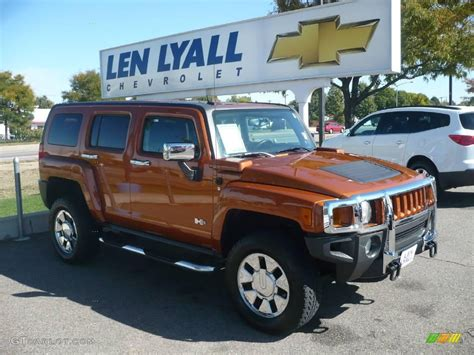 2007 desert orange metallic hummer h3 x 19488545 gtcarlot car color galleries