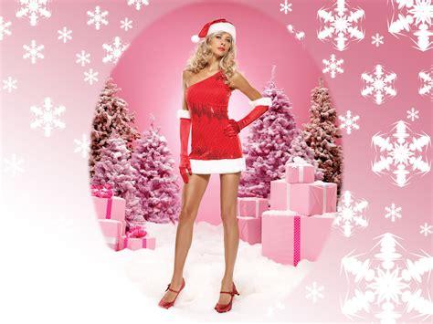 imagenes de navidad mujeres chicas santa claus wallpapers