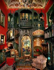 Gothic Style Bookcase Beautiful Steampunk Home Homesome Pinterest