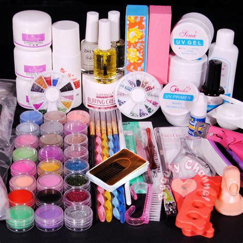 Acrylic Nail Kit by Pro Acrylic Powder Liquid Kits Nails Tips Kit 01