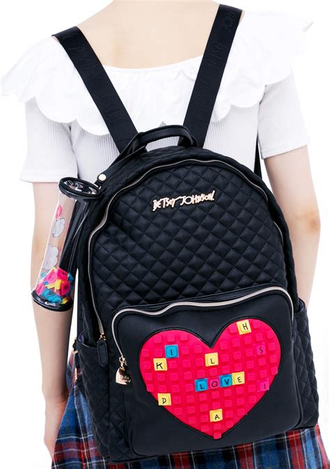 Betsey Johnson Purchases Ask Fashion by Betsey Johnson Buy A Vowel Backpack Dolls Kill