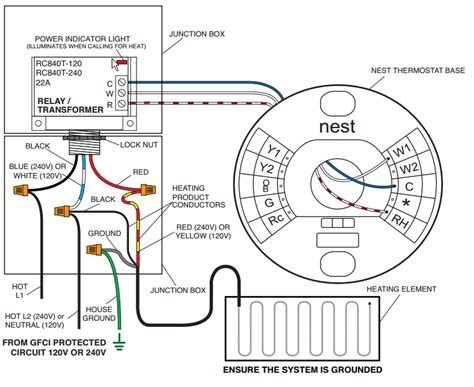 wiring diagram for low voltage thermostat circuit wiring
