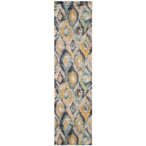 2 x 10 rug runners safavieh monaco blue multi 2 ft 2 in x 10 ft runner mnc242j 210 the home depot