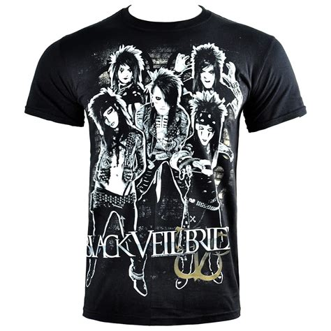 Tshirt Bvb black veil brides shred t shirt bvb band bvb merch